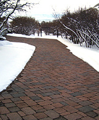 Large heated paver driveway