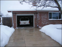 Heated driveway in Denver