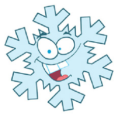 Illustration of Sid the snowflake