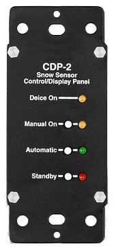 Control display panel for automated snow melting system
