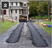 Retrofitting asphalt driveway with heated tire tracks-2