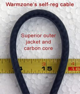 Warmzone self-regulating heat trace cable with durable outer jacket