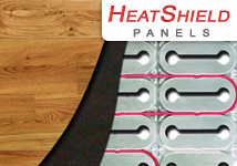 HeatShield radiant floor heating insulation panels.