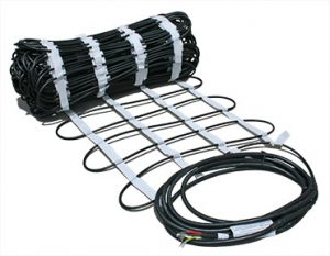 ClearZone snow melting heat cable in mat.