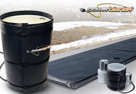 Powerblanket concrete curing mats and barrel warmers