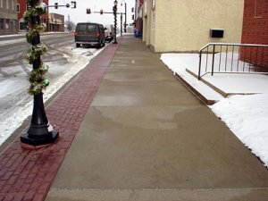 Heated sidewalks