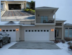 Heated driveway during installation and after