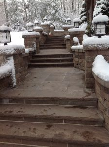 Heated paver steps