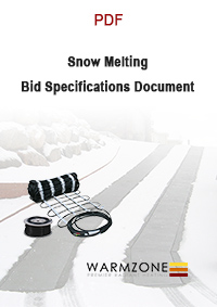 Warmzone snow melting bid specifications