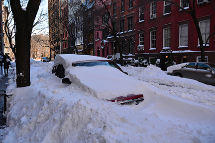 The morning after a massive winter storm in New York City.