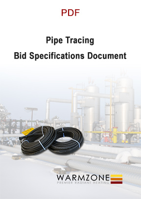 Warmzone pipe trace heating cable bid specifications document