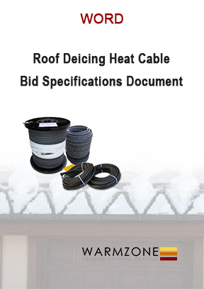 Warmzone self-regulating roof heat cable bid specifications document