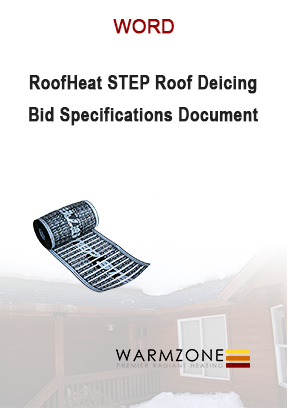 Low-voltage RoofHeat STEP bid specifications document