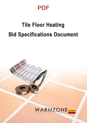 Tile floor heating cable bid specifications document