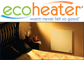 ECO-heater panel heater mounted on wall