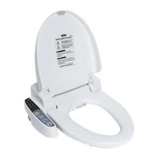 Bidet with heated toilet seat