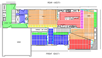 Example of a Warmzone floor heating AutoCAD