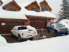 Heated driveway in Idaho