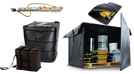 Powerblanket tote warmers, hotboxes and portable heating