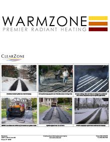 Heated asphalt tire tracks.