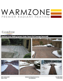 Snow melting systems installed under pavers.
