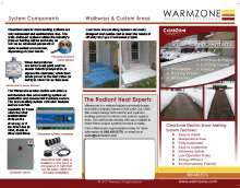 Warmzone snow melting system tri-fold brochure.