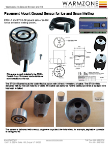 In-ground sensor product information.