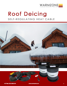 Roof heating cable and accessories.