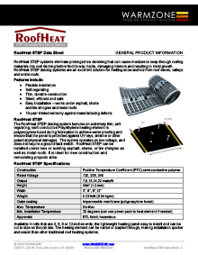 Low-voltage STEP roof heating systems.