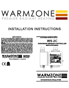 WS-2C Snow Sensor Installation Instructions