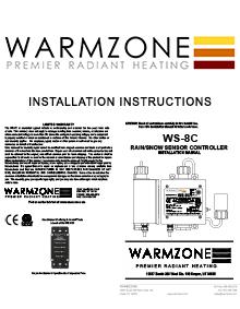 WS-8C Aerial mount snow sensor installation instructions