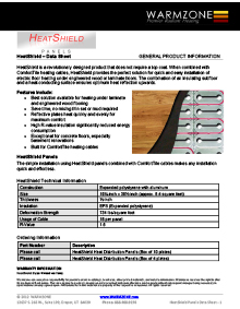 HeatShield floor heating insulation panels and heat cable data sheet cover thumbnail.
