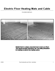 ComfortTile floor heating mats and cable installation manual