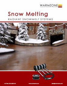 Warmzone snow melting system technical guide for submittal