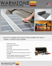FilmHeat and RetroHeat floor heating systems product information.