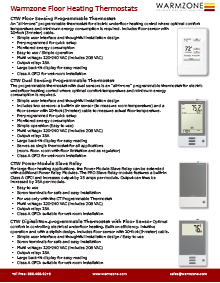Floor heating thermostats product guide