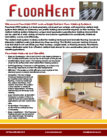 FloorHeat STEP low-voltage floor heating system product guide