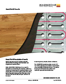 HeatShield floor heating insulation panels technical guide