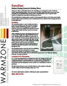 RetroHeat floor heating system technical guide.