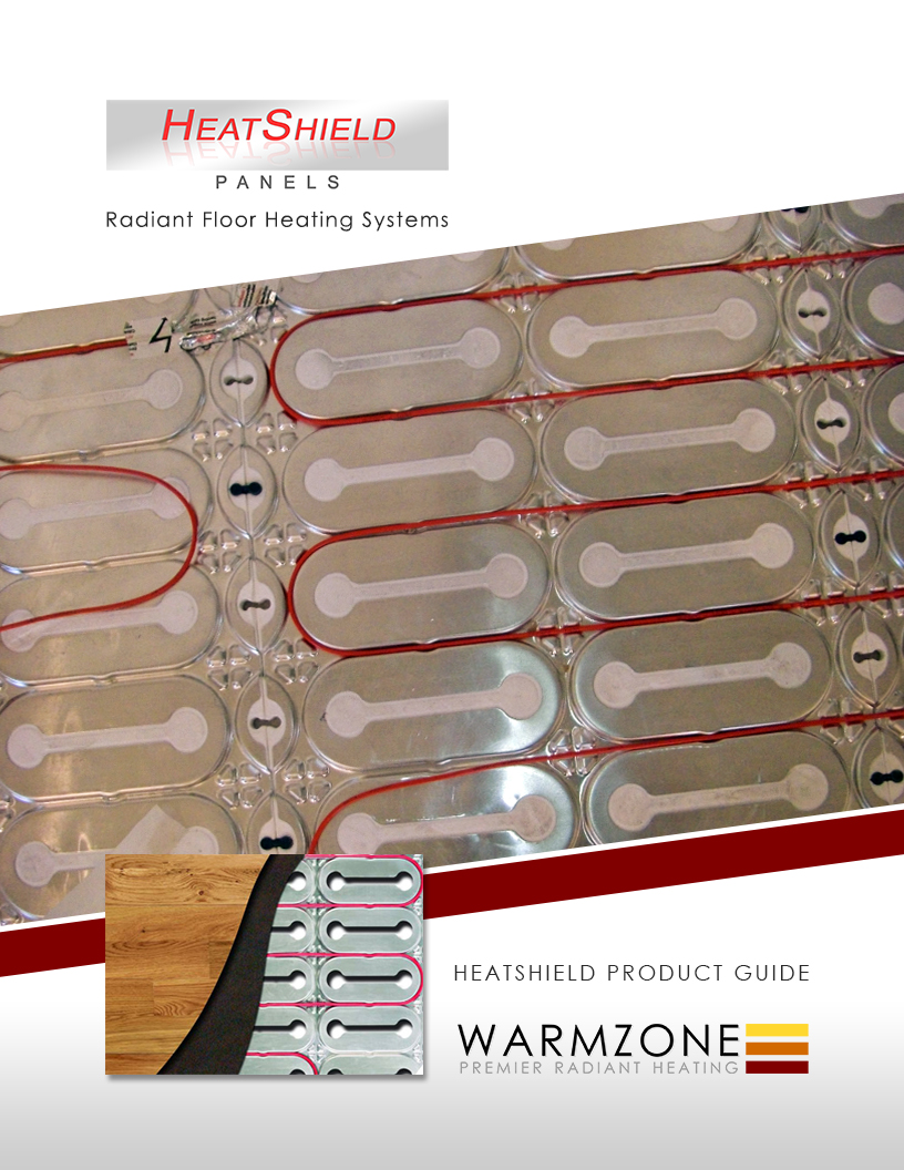 HeatShield floor heating insulation panels and heat cable product guide.