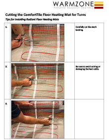 How to make turns with ComfortTile floor heating mats