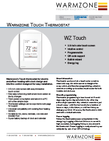Touch Floor Heating Thermostat Technical Guide