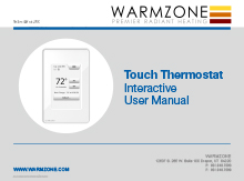 CT floor heating system Touch thermostat user manual