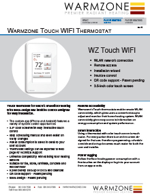 Wifi Touch Floor Heating Thermostat Technical Guide