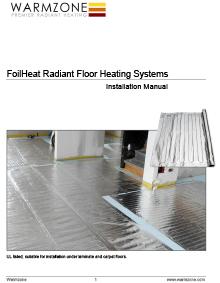 FoilHeat floor heating systems