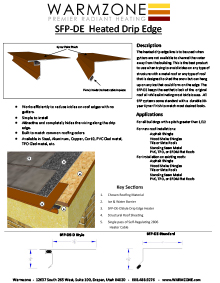 Roof heating panels heated drip edge