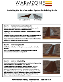 Roof heating panels installation guide