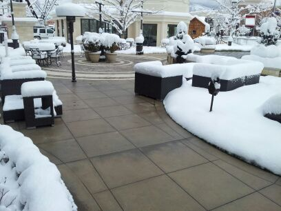 Heated Paver Walkways At Outdoor Mall