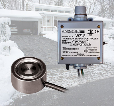 Snow sensors for automated snow melting system