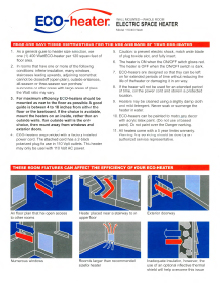 ECO-Heater Wall Mount Panel Heater Installation Guide